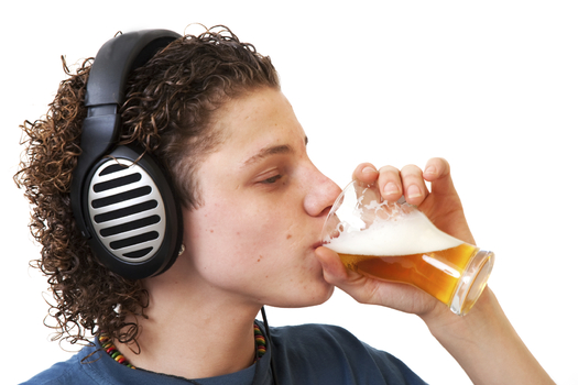 More than one-in-four students have consumed more than just a few sips of alcohol by the time they reach eighth grade. Credit: IvonneW.