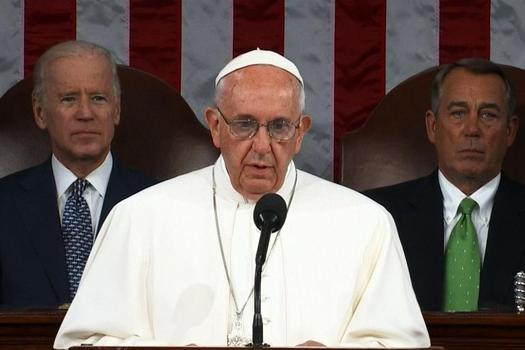 Pope Francis' remarks before Congress and the White House on climate change and poverty are finding support among grassroots groups in Nevada. Credit: C-SPAN