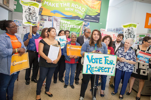 Grassroots groups say they registered more than 2,000 voters from working-class communities on Long Island and will help raise minority voices in the November elections. Courtesy: S. MacFarland/MTRNY