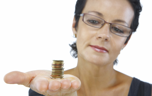 In 2014, women earned 78 cents for every dollar earned by men, and a new report says it could be another 45 years before women see equal pay. Credit: Dmitry Ersler/iStockphoto.