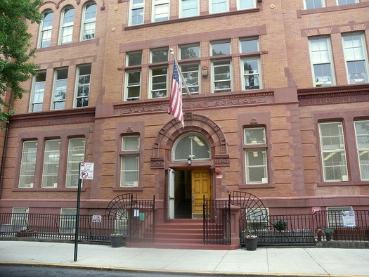 Police serve as safety officers in New York City public schools. Credit: Jim.henderson/Wikimedia Commons