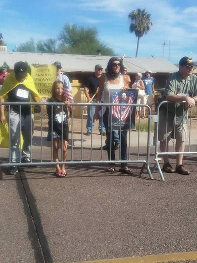 Phoenix-area faith leaders have coalesced around an online petition speaking out against hate demonstrations, following an anti-Muslim rally last weekend in Phoenix. Credit: Jaime Steele.