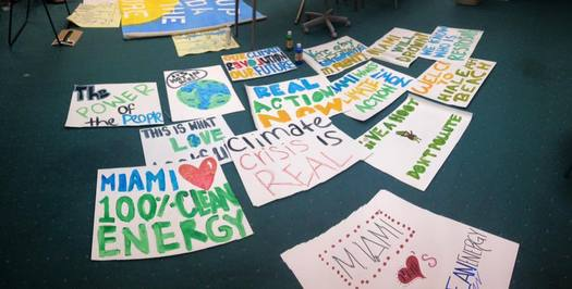 Floridians are joining a national day of action for climate change. Credit: Mariama Gregory