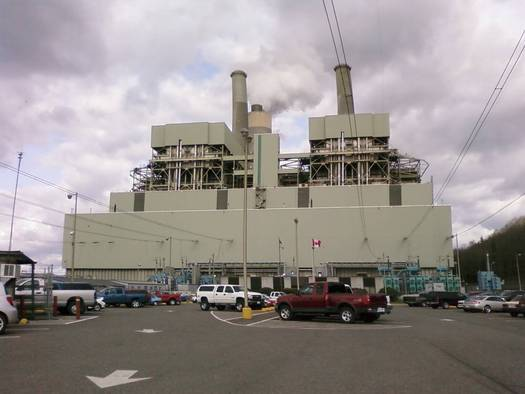 TransAlta power plant in Centralia. A march and rally were held in Seattle on Wednesday to bring attention to communities impacted by climate change. Courtesy Sierra Club.