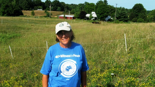 Organic farmer Mardy Townsend of Ashtabula County is worried about the effects of fracking waste on the environment, as well as her crops. Courtesy: Ohio Ecological Food and Farm Association.