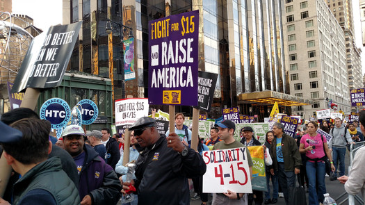 The Raise America campaign is part of the nationwide push for a $15 minimum wage. Credit: Otto Yamamoto/Flickr.