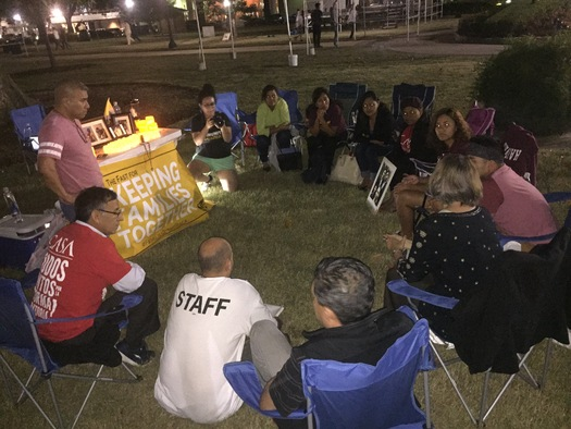 Immigration advocates fasting last month to draw attention to a case that now will go to the Supreme Court. Credit: Fair Immigrants Rights Movement