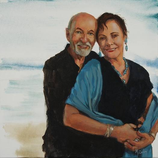 This portrait of caregiver Jill Ballard of Cannon Falls and her husband Bob was given to Jill as part of National Family Caregivers Month. Courtesy: AARP Minnesota