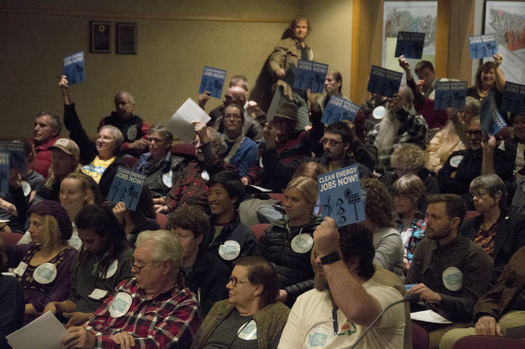 Spokane-area residents pack an Oct. 27 meeting about Avista's continued use of power generated from coal. Courtesy: Sierra Club