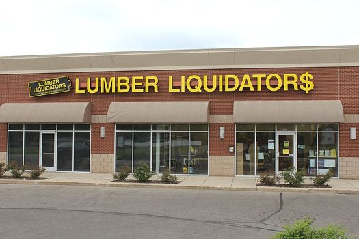 Lumber Liquidators is the first major home-improvement retailer to require that flooring it sells be free of contaminated plastics. Credit: Dwight Burdette/Wikimedia Commons