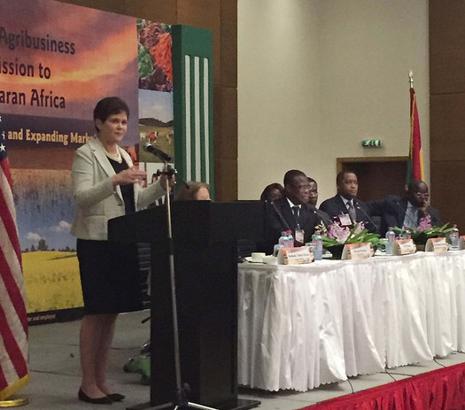 Deputy USDA Secretary Krysta Harden was among those leading a trade mission to Ghana, where the agency signed agreements worth $58 million over the next five years. Courtesy: USDA