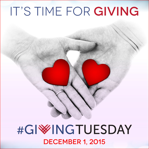 #Giving Tuesday is a worldwide effort to encourage donations of time, money and energy for nonprofits. Credit: #GivingTuesday