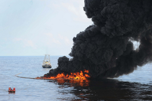 Scientists say the environmental impact of the Deepwater Horizon explosion and spill was greater than previously thought. Credit: U.S. Navy