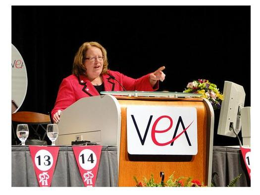 Science teacher and current VEA President Meg Gruber says the governor's ed budget is good in a lot of ways, but needs to do more on teacher pay. (Virginia Beach Education Association)