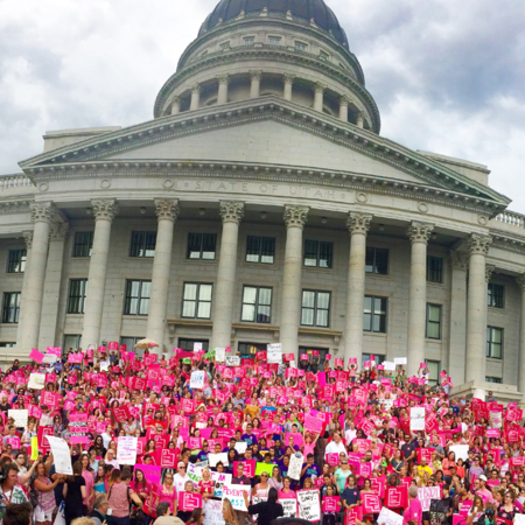 Planned Parenthood rally in August at the Utah statehouse protesting Gov. Gary Herbert's decision to cut off funding.  (Planned Parenthood Association of Utah)