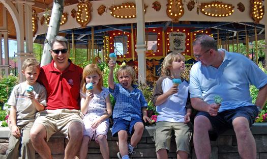 Family members enjoy a visit to Scottsdale's McCormick-Stillman Railroad Park. (City of Scottsdale)