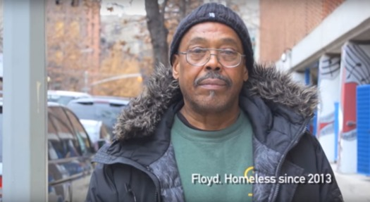 Floyd Parks is one of three homeless men who say New York City officials trashed their belongings in the middle of the night. (NYCLU)