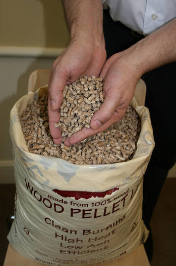 Wood pellets made from biomass. (New England Wood Pellet Company)