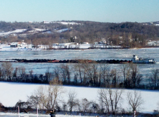 You may be surprised what's moving down the Ohio River. An environmental action group is keeping an eye on the shipment of oil-refining waste from the Chicago area to western Kentucky. (Greg Stotelmyer)