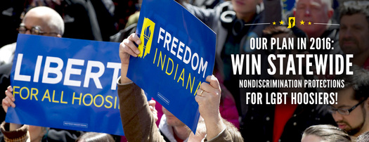 Indiana's governor sided with religious groups but supporters say they'll keep fighting for equal rights for the LGBT community (Freedom Indiana)