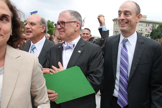 Jim Obergefell (center) of Cincinnati will be a guest of honor at the State of the Union address. (Elvert Barnes/Flickr)