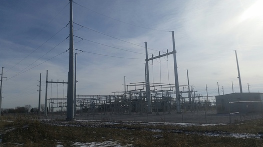 Two Indiana power companies will install new transmission lines in spring. (Veronica Carter/PNS)