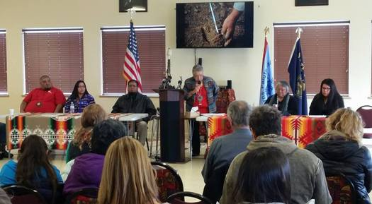 The Burns Paiute Tribe holds a Wednesday news conference to voice their concerns about the armed takeover of the Malheur National Wildlife Refuge. (Burns Paiute Tribe)