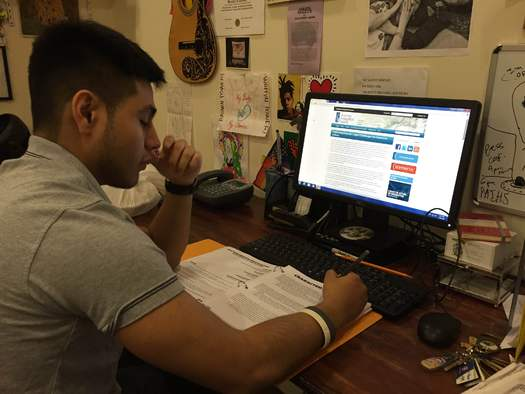 Jonathan Jimenez says the DACA program allows him to legally attend Queens College and get a driver's license. He is hopeful the U.S. Supreme Court uphold's President Obama's executive action extending deportation relief to 4 million Americans. (A. Alarcon)