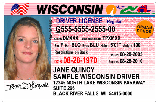 The non-presidential primary election on Tuesday will be the first statewide Wisconsin election where Voter ID will be required. A driver's license is acceptable. (WI Department of Transportation)