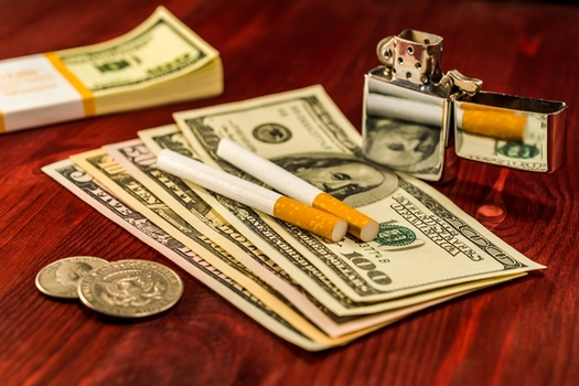 Anti-smoking groups say evidence shows tobacco tax increases don't chase sales out of state.(WalletHub)