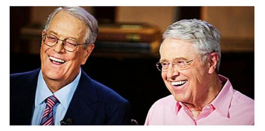 Watchdogs say controversial West Virginia legislation is tied to Kansas oil billionaires Charles and David Koch. (CMD)