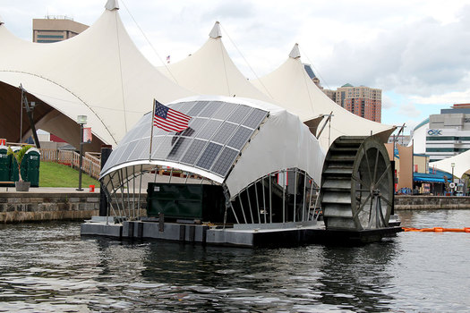 Mr. Trash Wheel has collected 380 tons of garbage from the Baltimore Harbor since 2014. (Waterfront Partnership)