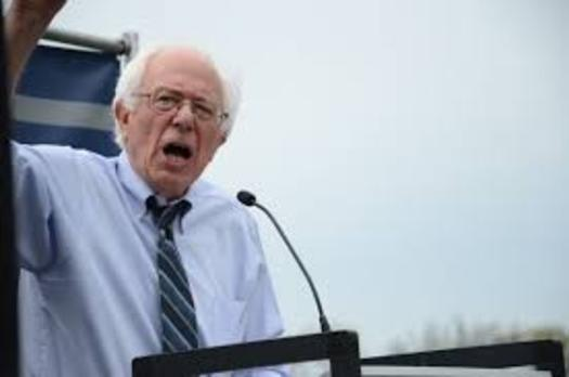Outside candidates like Bernie Sanders (pictured) and Donald Trump are helping drive younger voters to the polls. (AFGE)