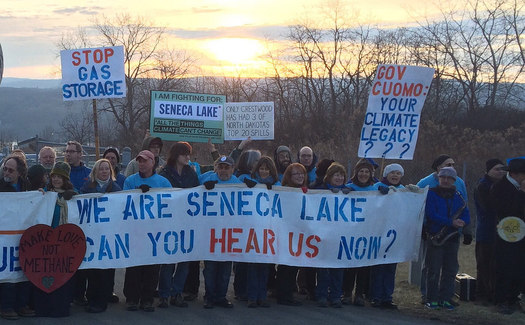Protests have led to more than 500 arrests at the Seneca Lake site since 2014. (wearesenecalake.com)