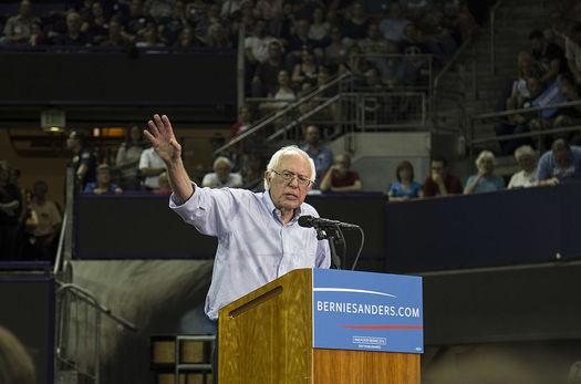 Sen. Bernie Sanders won big in Democratic caucuses in Washington, Alaska and Hawaii, but still trails Hillary Clinton in the overall delegate count. (Tiffany von Amim/Wikimedia Commons)