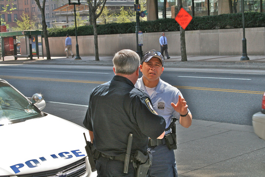 Guns were found in fewer than one percent of frisks by Philadelphia Police, a new report says. (George Donnelly/flickr.com)