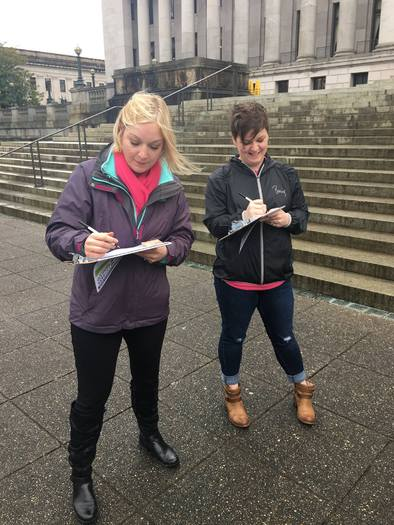 Washington is the only West Coast state without a paid sick leave law, and proponents of Initiative 1433 are gathering signatures to try to change that. (Raise Up Washington)