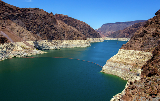 Lake Mead, a major water source for several Western states, is currently less than half full, a major indicator of drought conditions. (HofstetterPhoto/iStockphoto)