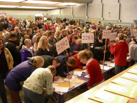 Washington has 101 delegates up for grabs in Saturday's Democratic caucuses. (Joe Mabel/Wikimedia Commons)