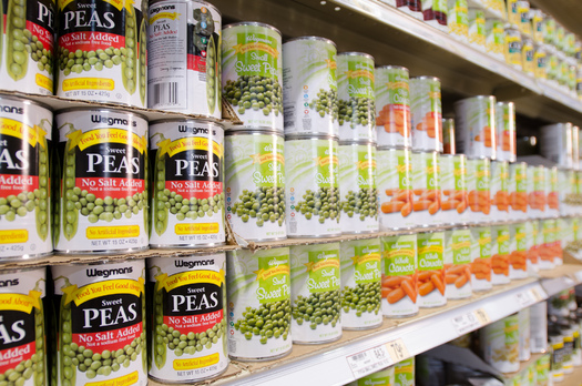 A new report says 67 percent of food cans tested had BPA in the lining. (USDA/Flickr)
