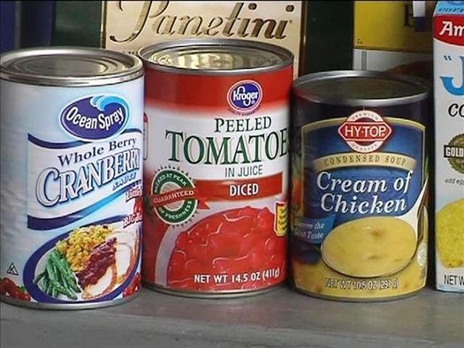 Could some foods in your cupboard be toxic? A new report says harmful chemicals have been found in the linings of the cans. (Virginia Carter)