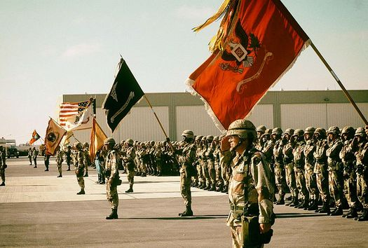 Nearly 700,000 U.S. troops were involved in the first Gulf War. (PHC D. W. Holmes/US Navy)