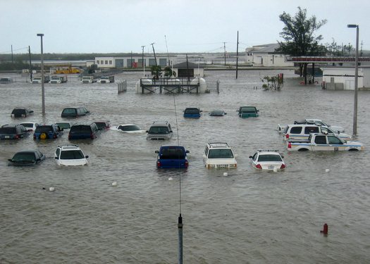 Florida flooding is projected to be worse than expected in a new Antarctic ice melt study. (U.S. Navy/Wikimedia Commons)