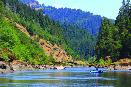 The proposed management changes to BLM land would affect western Oregon, including parts of the Rogue River, above. (Emily Berlant)