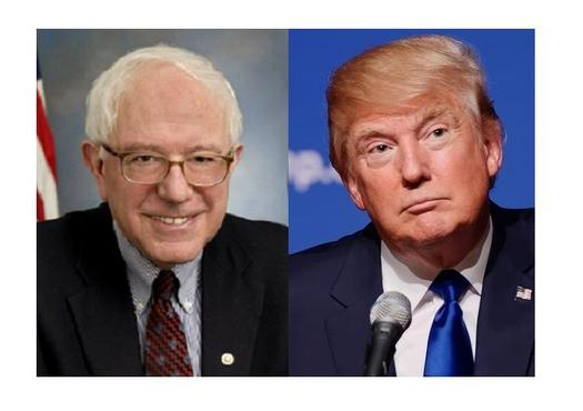 West Virginia visits on the same day by Sen. Bernie Sanders and real estate developer Donald Trump are unprecedented, and perhaps unlikely to be repeated. (U.S. Congress/Michael Vandon/Wikipedia)