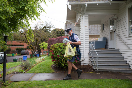 Mail carriers will collect nonperishable foods from mailboxes and doorsteps on Saturday for the annual Stamp Out Hunger food drive. (Oregon Food Bank)