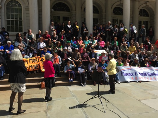More than 350 seniors took part in a day of advocacy. (A Nickerson/LiveOn NY)