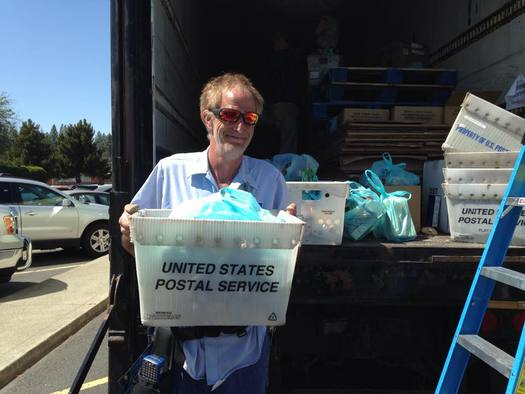 "Mail carriers are collecting food for the 24th annual ""Stamp Out Hunger"" food drive on Saturday. (Second Harvest)"
