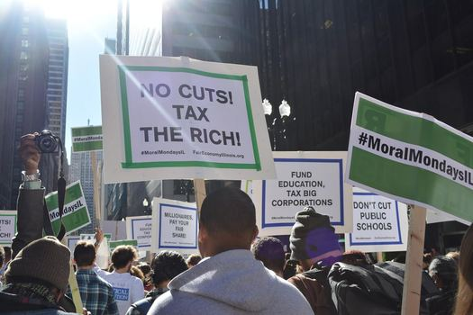 "As the Illinois budget impasse drags on, a group of activists releases its own budget plan, which the group says would put ""people first."" (Moral Mondays Illinois)"