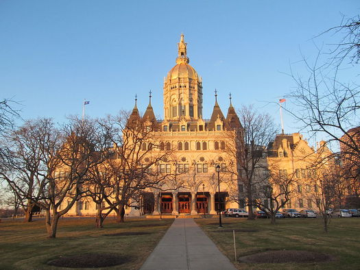 The Connecticut State Capitol building where legislators passed new state budget cuts of $233.6 million from critical programs for children and families. (John Phelan/Wikimedia Commons)